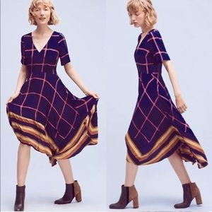 HD in Paris stripe window pane midi dress